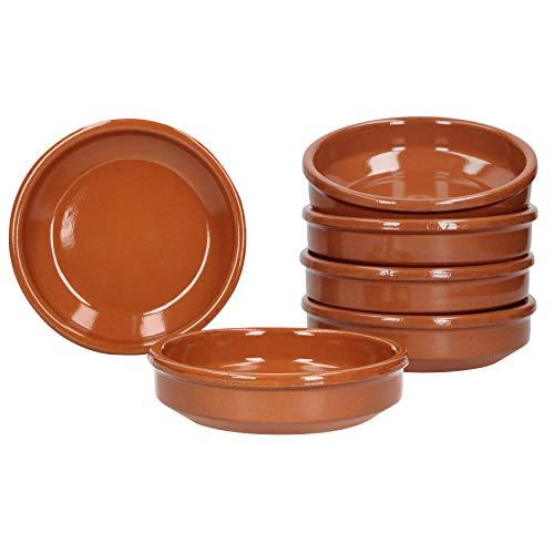 MamboCat Cazuela - Lot de 6 bols en céramique - Diamètre : 12 cm - Taille S - Émaillés - Unique - Fait à la main - Style antique (Cuisine)