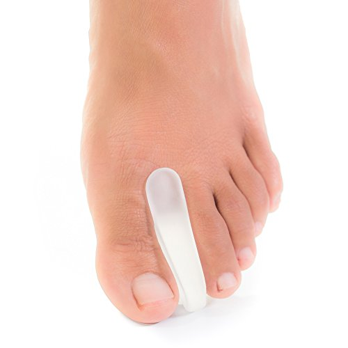 ZenToes Toe Separators for Bunion Pain Relief Set of 6 Flared Gel Straighteners Align Toes and Prevent Corns and Blisters (Large)