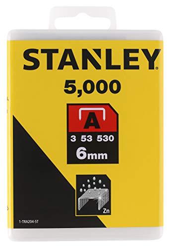 Stanley 1-TRA204-5T Graffette Tipo A, 6 mm, Set di 5000 Pezzi