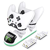 Charger for Xbox One/S/X, Fast Dual Charging Station Updated LED Strap, Remote Charger Dock - 2...