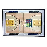 Boards Carpeta Táctica Plegable para Entrenamiento de Baloncesto Pizarra Magnética, Pizarra Baloncesto Entrenador Portátil Profesional, 42x27.5cm