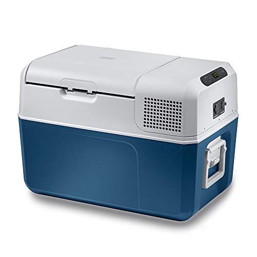 MOBICOOL MCF32 - 31 l Compressor Cooler, Blue/Grey, Cool Box 12/24 V DC / 100 -240 V AC, Cool Box, Mini Fridge for Car, Truck, Boat, Motorhome and Power Socket