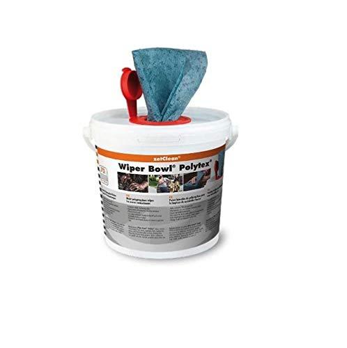 ZVG zetClean 50130-001 Wiper Bowl Polytex Reinigungstücher, blau, 25 x 25...