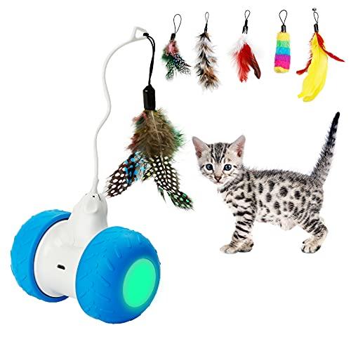 Toozey Juguete electrónico interactivo para gatos, automático,...