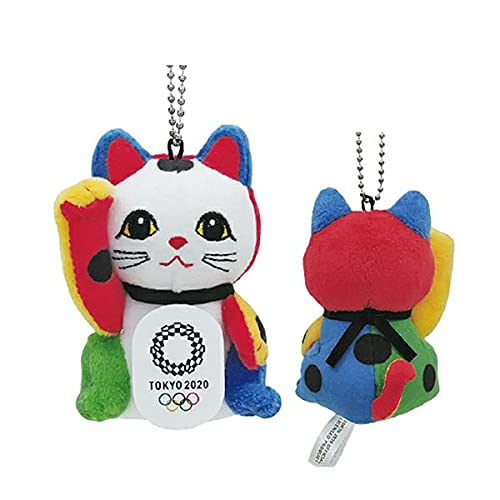 東京2020 オリンピックエンブレム 招き猫BC付ぬいぐるみ