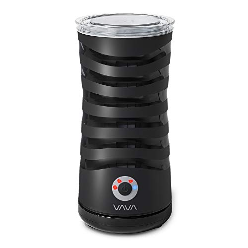 VAVA Automatischer Elektrischer Milchaufschäumer für kalte und warme Aufschäumen Milcherhitzer mit Strix-Steuerung Antihaftbeschichtung Abschaltfunktion Geräuschloser Betrieb Edelstahl (Schwarz)
