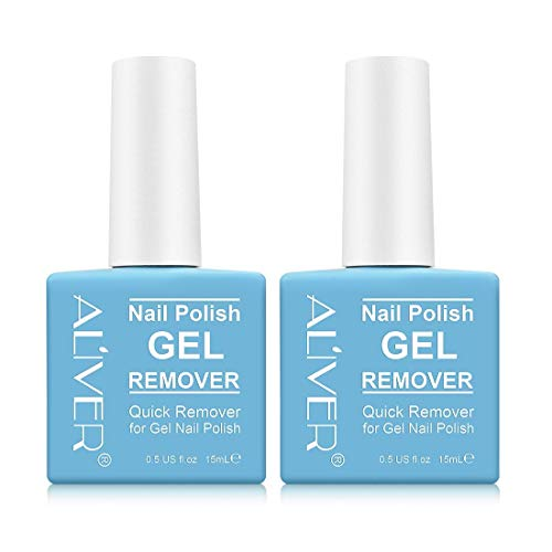 Gel Nail Polish Remover (2 Pack) - Remove Gel Nail Polish Within 2-3 Minutes - Quick & Easy Polish Remover - No Need For Foil, Soaking Or Wrapping 0.5 Fl Oz