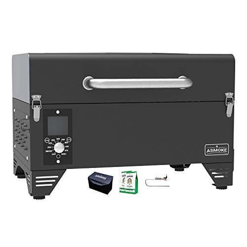 Product Image 1: ASMOKE Portable Wood Pellet Grill and Smoker with 40Lbs Pure Apple Wood Pellets, 8 in 1 <a href=