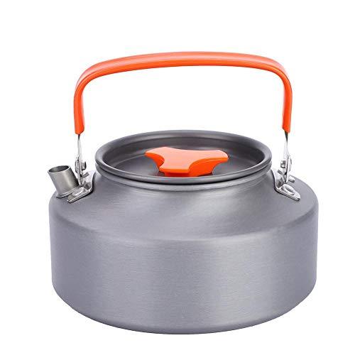 Boquite Tragbare Teekanne Kaffeekocher für Camping Wandern(Orange)