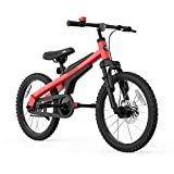 Segway Ninebot Kid's Bike for Boys and Girls, 18 inch with Kickstand, Red
