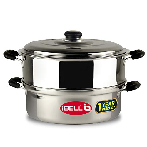 IBELL Stainless Steel Steamer (5L, 4L) Silver