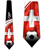 Hommes Cravate Cravate,Cravates De Sport Cravate De Football Pour Hommes Suisse Cravate,Neck Tie,145Cm