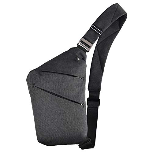 OSOCE Sling Chest Bag Cross Body Shoulder Backpack Anti Theft Travel Bags Daypack for Men WomenBlack
