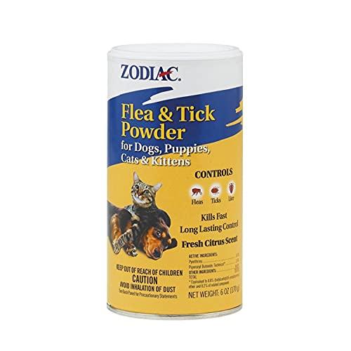 Zodiac Flea & Tick Powder for Dogs, Puppies, Cats...