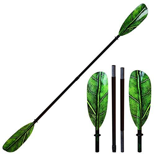 ExtaSea Leaf Vario Fiberglas Doppelpaddel Kajak Paddel 4-teilig | 220-230cm