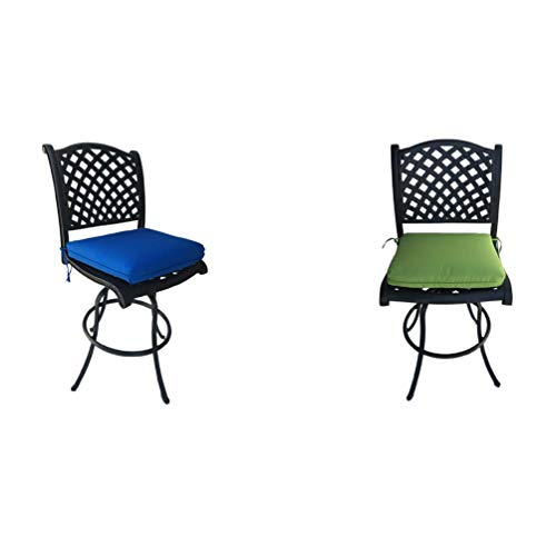 Similar to Allen and Roth patio furniture: Outdoor Cast Aluminum Swivel Barstools