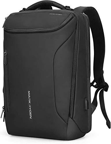 MARK RYDEN Zaino per laptop, 17,3 pollici/15.6 pollici di grande capacità con borse per laptop da lavoro impermeabili per uomo Donna con USB per zaino da viaggio (3-Pocket)