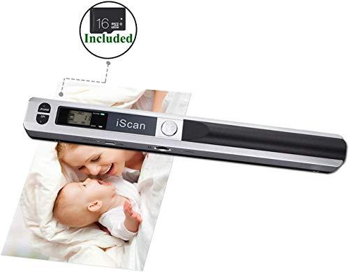 [Scanner Portatile WIFI] 16G SD Micro Card Documento palmare LCD HD Scanner portatile MUNBYN Formato A4 Supporto 1050 DPI Supporto JEPG o formato di scansione PDF