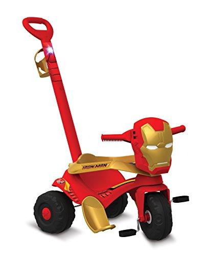 Velocípede Passeio e Pedal Homem de Ferro Bandeirante Vermelho
