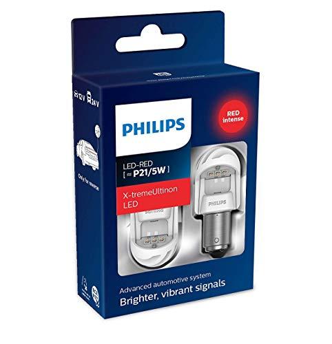 Philips automotive lighting 11499XURX2 LED Lampadina di Segnalazione per Auto (P21/5W Red), Rosso,...