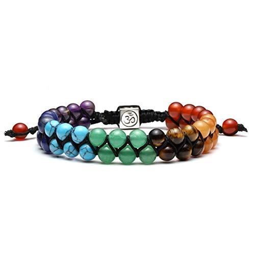 Top Plaza Bead Chakra Bracelet 7 Chakras Healing Crystals...