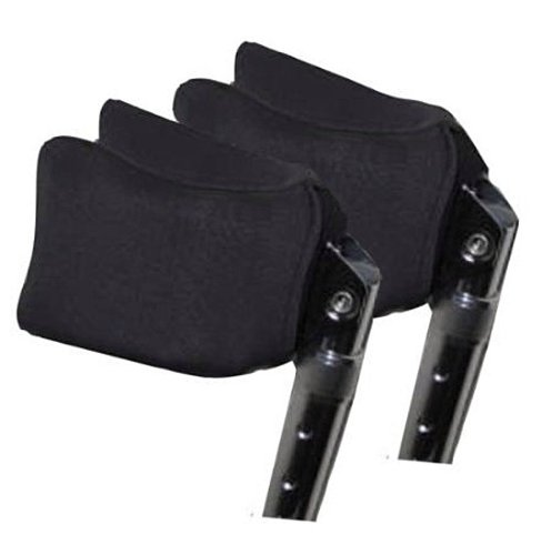 Crutcheze Forearm Crutch Pads, Covers for Arm Cuffs (Pr), Black Airflex Ultra Plus - Breathable, Ultimate Cushion, Moisture Wicking, Antibacterial, Washable Forearm Crutch Accessories