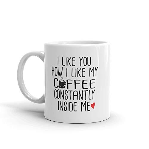 Funny Valentines Day Gift Coffee Mug for Husband or Boyfriend 11 oz 1st Sweetest Day Christmas Birthday Present for Men Joke