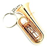 Porte-clés en acrylique forme Tuba