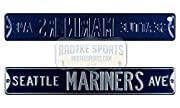 Authentic 36x6 Steel Officially Licensed by the MLB Features Stylish Colors and 3-D Lettering