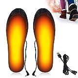 SPECOOL Semelles chauffantes, Semelle chauffante USB,Semelle intérieure,Semelle Thermique pour Chaussures Chauffe Pieds d'hiver,Taille Peut être coupé et Lavable, Taille: 41-46