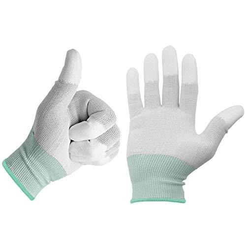 Minadax ESD - 2 guanti antistatici in carbonio per lavori elettronici, taglia M, ideali per la...