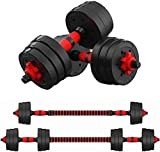 AnMoreH Adjustable Dumbbells Dumb Bell Weights Compact, Max Strength 110lbs Dumbbell Barbell Lifting...