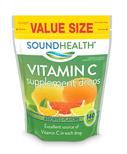 SoundHealth Vitamin C Drops, Assorted Citrus Flavor, 140 Count