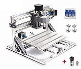 3 Axis Desktop Small DIY CNC Router Kit 2418 GRBL Control Wood PVC PCB Milling Engraver Engraving Mini Laser Machine+ER11 Collet (Working Area 24x18x4.0cm)