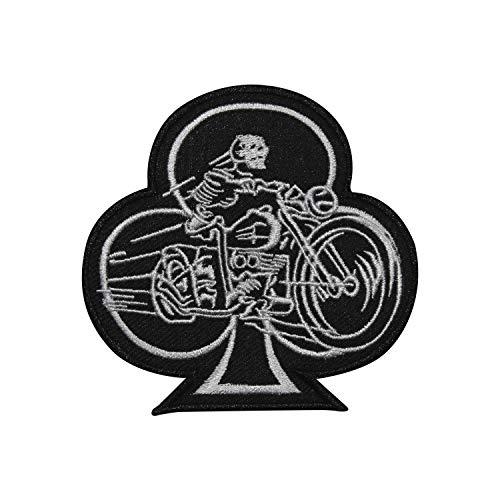 Real Empire Racer - Parches para Coser o Planchar, diseño de Pala de Motociclista