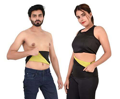 HUSB® Shaper Non-Tearable Belt for Men and Women (Size S, M, L, XL, XXL, 3XL, 4XL) (Black)