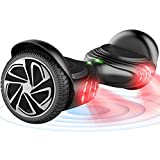 TOMOLOO Hoverboard with LED Light Two-Wheel Self Balancing Scooter with UL2272 Certified, 6.5' Wheel Electric Scooter for Kids and Adult