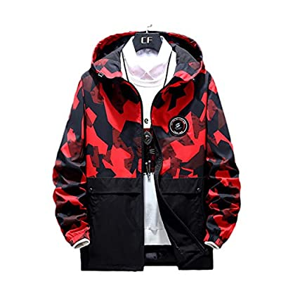 Material:Cotton+Polyester NOTE: Asian sizes, usually smaller than about 1-2 sizes of US/EUdimensions;size: please allow ± 2cmdiffer due to manual measurement; 1 inch = 2.54 cm Casual hoodie with long sleeve; lightweight windbreaker jacket features wi...