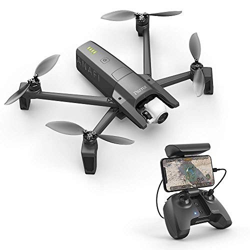 Parrot Anafi Base Drone con Videocamera HDR 4K/foto da 21 MP con Gimbal con Inclinazione a 180°, Nero