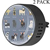 Pet Dogs Set diffusore per auto in EVA per aromaterapia, diffusore di oli essenziali, frutto della passione floreale