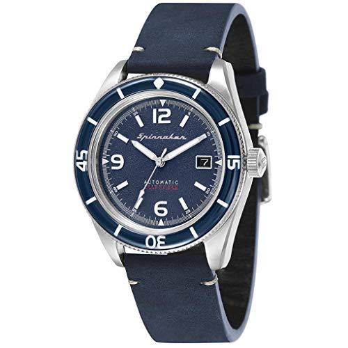 SPINNAKER Fleuss Herren-Armbanduhr 43mm Armband Leder Automatik SP-5055-03
