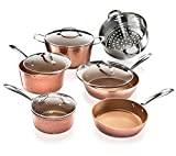 Gotham Steel 10 Piece Hammered Nonstick Copper Cookware Set