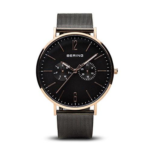 BERING Herren Analog Quarz Uhr mit Edelstahl Armband 14240-163