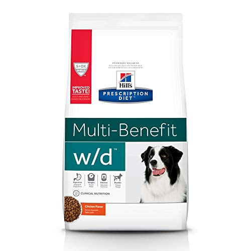 Hill's Prescription Diet w/d Multi-Benefit Digestive/Weight/Glucose/Urinary Management Chicken Flavor Dry Dog Food, 17.6 lb bag