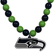 """Officially licensed product licensee: Siskiyou buckle The 24"""" String of Fashion beads is light-weight and eye-catching The large team pendant has a high polish finish, with expertly enameled color and carved detail The fun piece is a game day must-ha..."""