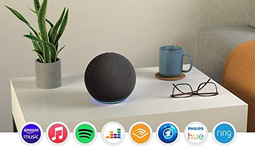 Echo (4. Generation)   Mit herausragendem Klang, Smart Home-Hub und Alexa   Anthrazit