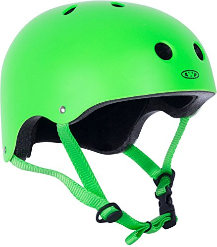 WORKER Skaterhelm Neonik grün Gr. 49-53, 53-56, 56-59, 59-62 cm verstellbar (S 53-56 cm)