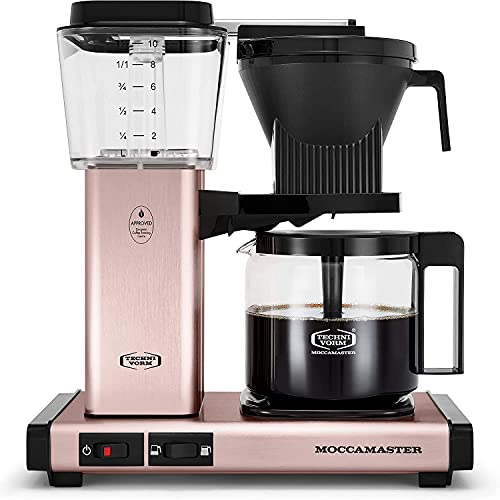 Technivorm Moccamaster KBGV Select Coffee Maker, 40oz Glass Carafe, Rose Gold (53935)