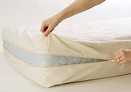 Excellent 100% Cotton Fleetwood Cotton Mattress Cover, Twin Size, with Zipper