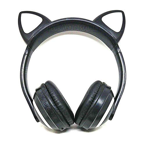 Headphone bluetooth com orelhas de gato e iluminação led fone sem fio de gatinho exbom hf-c240bt